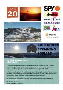 Påskeshredd-plakat Ål Freestyle/Freeride Invitasjon