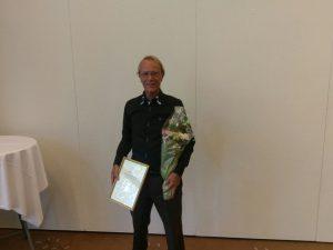 Reidar Bergestad mottar Oslo iderettskrets' hederspris